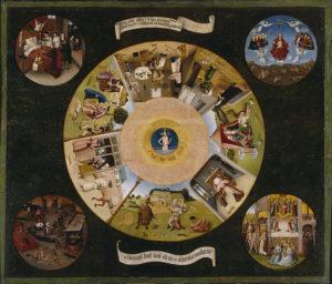 I sette Vizi Capitali di Hieronimus Bosch